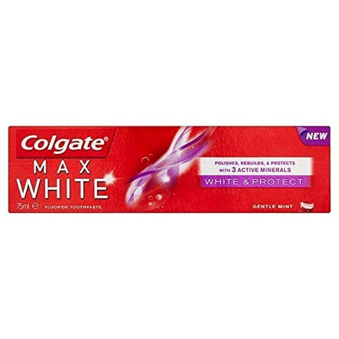 リンスミケランジェロ圧倒する[Colgate ] コルゲートマックスホワイトホワイトニング&歯磨き粉75ミリリットルを保護 - Colgate Max White Whitening & Protect Toothpaste 75ml [並行輸入品]