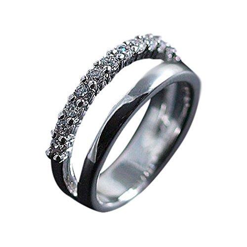 [해외]Verossa 소원이 이루어 지도록 새끼 손가락 반지 핑키 링 CZ 다이아몬드 12 돌 (3 호)/Verossa Wishing a wish comes true Ring of little finger Pinky ring CZ diamond 12 stone (No. 3)