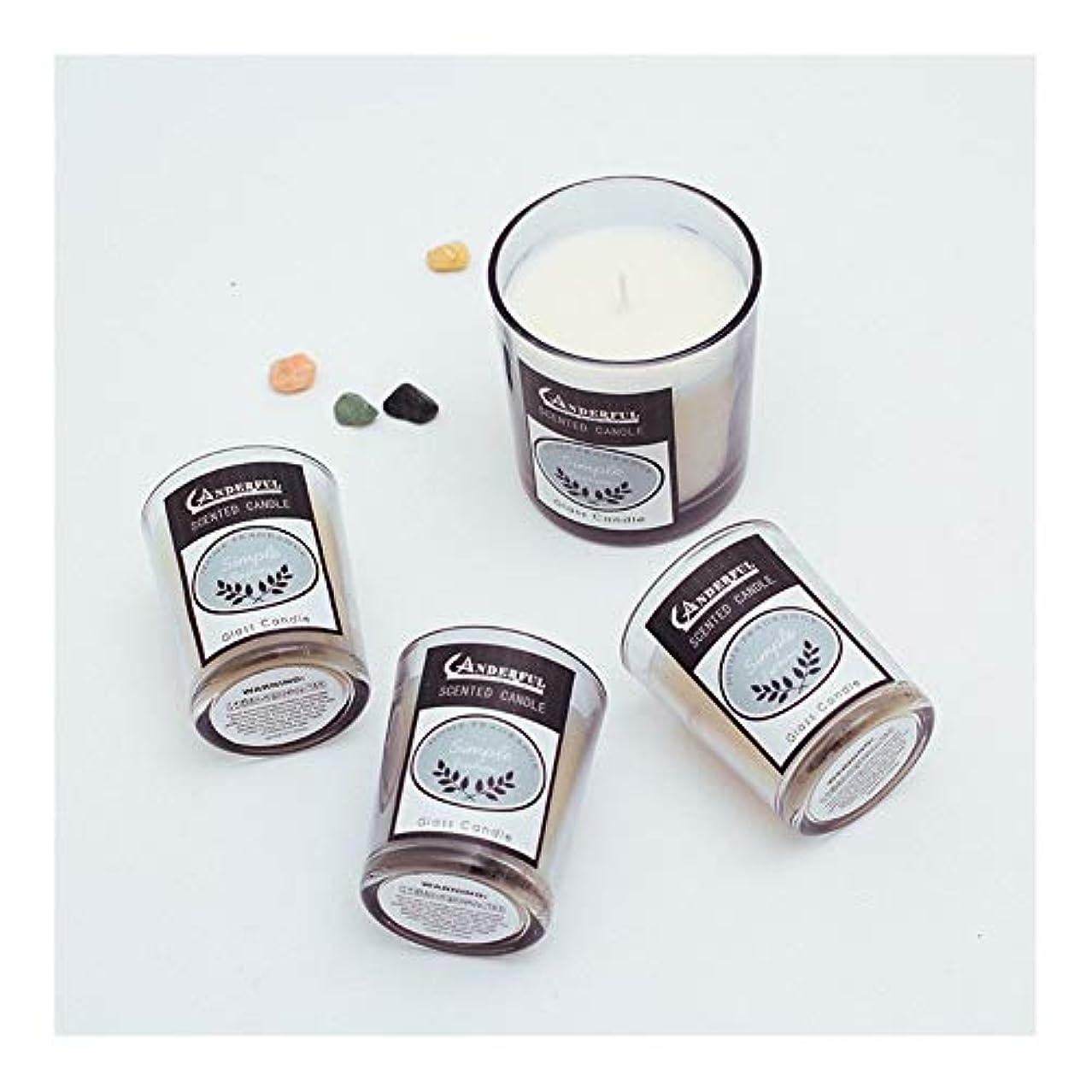 ご注意スラム一緒にZtian 香り手作りギフトガラスローソク足ロマンチックなアロマセラピーキャンドルアロマセラピーキャンドル誕生日キャンドル (色 : Beige)