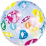 TOYMYTOY ビーチボール ビーチおもちゃ 水遊び カラフル 空気入れ 子供 大人 夏の定番 プール 屋外 パーティー 1個入れ 直径25cm(ランダムパターン)