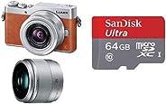 パナソニック ミラーレス一眼カメラ ルミックス GF9 ダブルズームレンズキット 標準ズームレンズ/単焦点レンズ付属 オレンジ DC-GF9W-D + microSDカード 64GB UHS-I Class10 SanDisk Ultra SDSQU