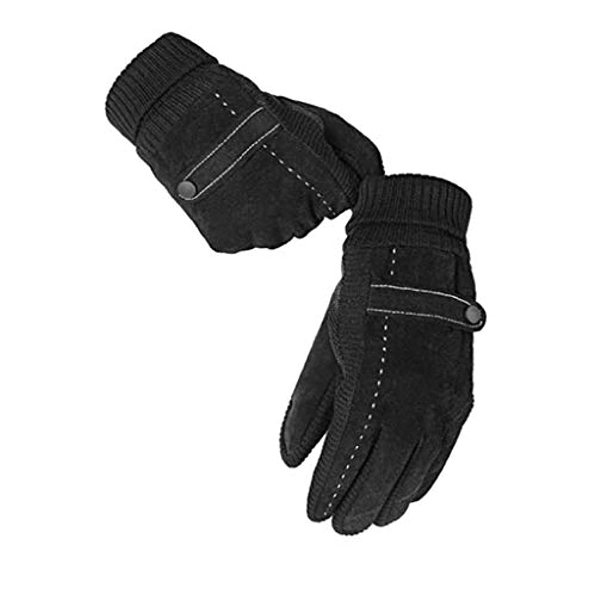 ジョージスティーブンソン請求可能休憩手袋の男性の暖かいとベルベットの冬のタッチスクリーン革手袋のオートバイのファッション冷たい手袋
