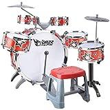 X-キッズドラム 子供のドラム音楽教育玩具ビート楽器打楽器誕生日プレゼント2色オプション (色 : 赤)