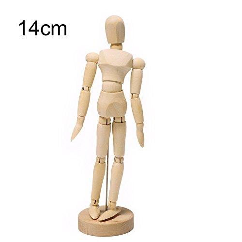 YideaHome 木製 デッサン 人形 14の関節 多彩な...