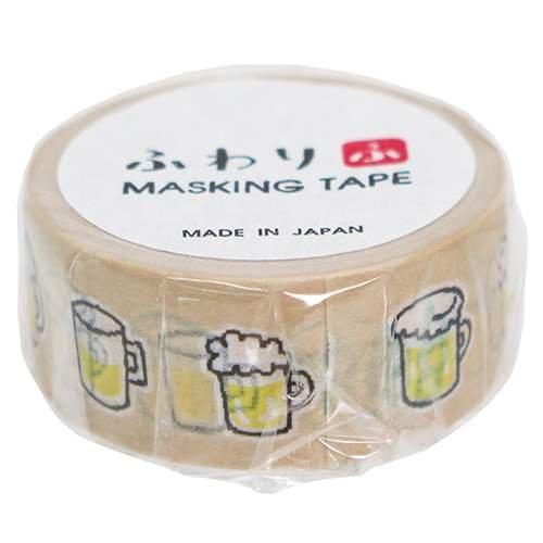 ふわり[マスキングテープ]和紙クラフトテープ/ビール フロン...