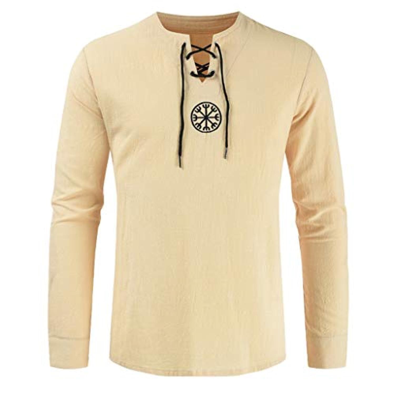 Wyntroy メンズトップス 長袖 開襟 和風 単色 メンズシャツ スポーツウェア トップス 綿麻 スポーティー シャツ ランニング ジョギング シャツ 夏秋 トレーニング スーツ 友達へのプレゼント