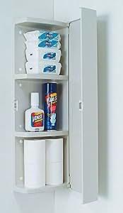 INAX LIXIL・リクシル トイレ アクセサリー コーナーウォールキャビネット【SUA-CN101】壁掛け小物収納タイプ カラー:WA(ホワイト)
