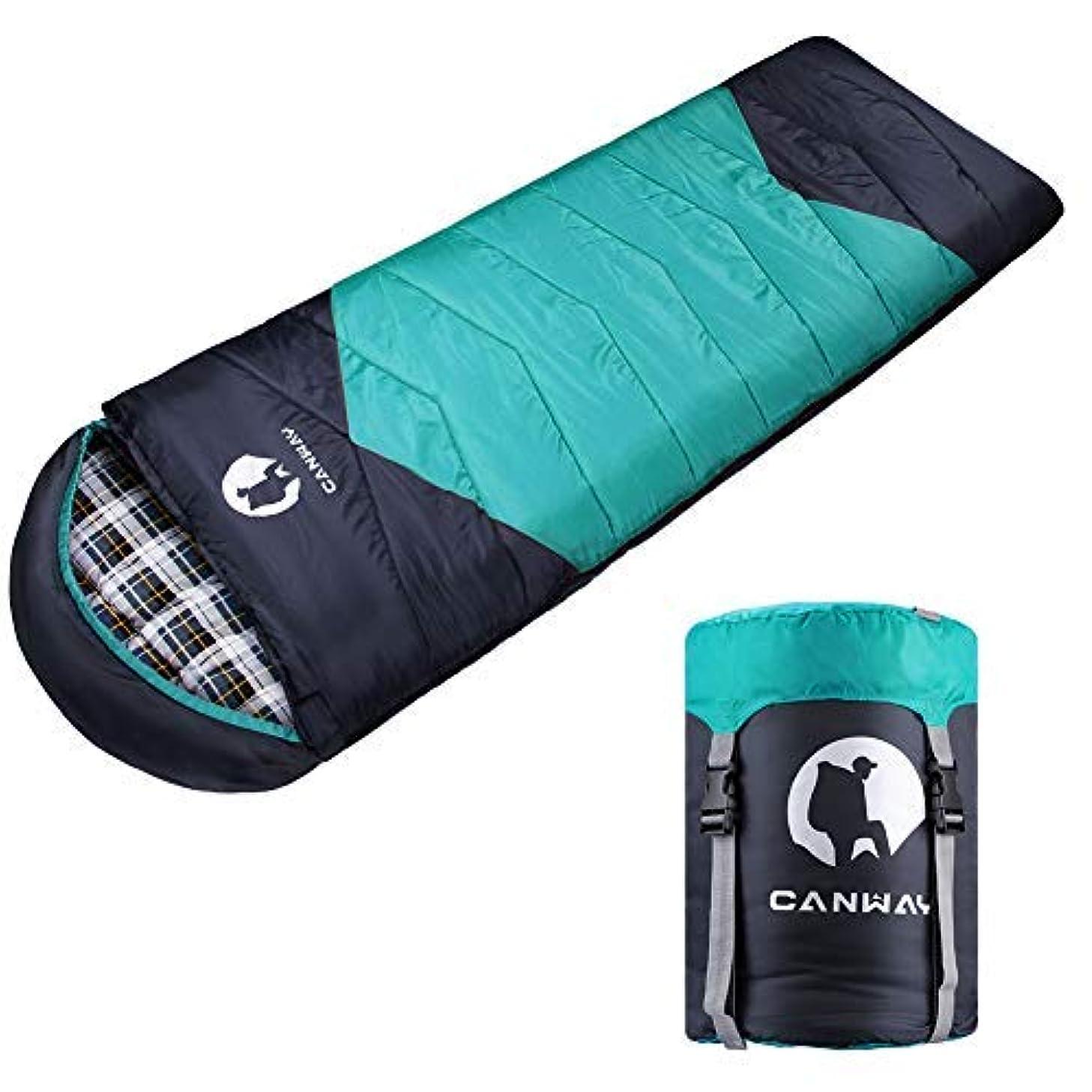 換気雇った原子炉CANWAY sleeping bag(寝袋) with Compression Sack, Lightweight and Waterproof for Warm & Cold Weather, Comfort for 4 Seasons Camping/Traveling/Hiking/Backpacking, Adults & Kids [並行輸入品]