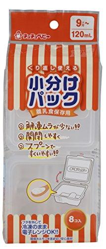 RoomClip商品情報 - チュチュベビー 離乳食保存用 小分けパック 120mL 8コ入り 冷凍・電子レンジ対応