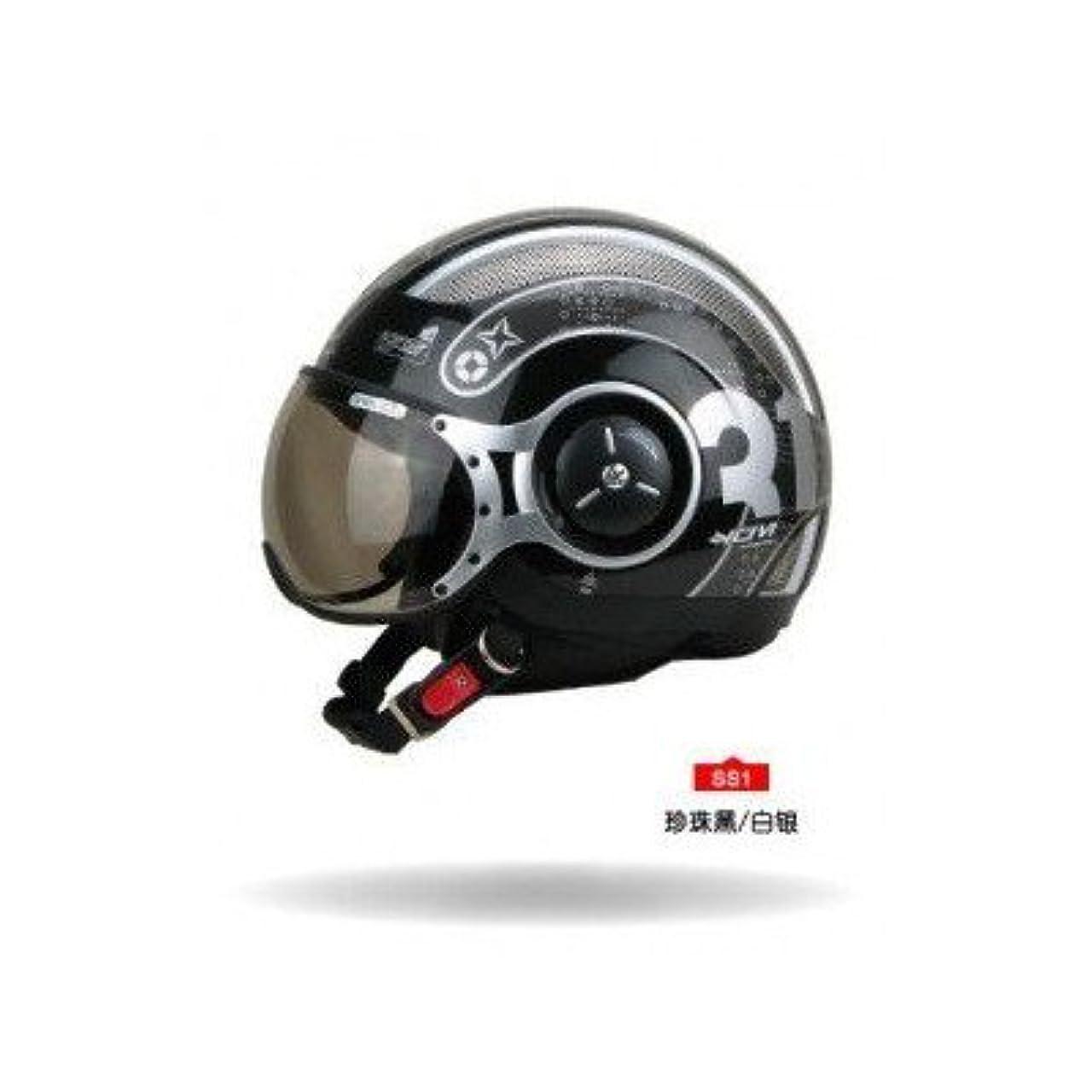 復活する頬床ヘルメットバイク ジェットタイプ ZEUS MOTOモデル M(55-56cm)