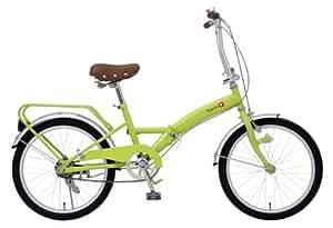 TOP ONE 折畳自転車 パイプキャリア付 20インチ ライトグリーン