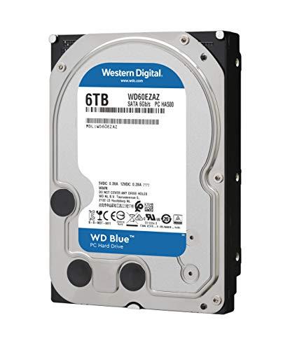 『【国内正規代理店品】Western Digital WD Blue 内蔵HDD 3.5インチ スタンダードモデル 6TB SATA 3.0(SATA 6Gb/s) WD60EZAZ-RT』の1枚目の画像