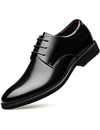 [luzhikang] ビジネスシューズ メンズ靴 本革 通気快適 長持ち 抗菌 足痛くない 就活 通勤 普段用 紳士靴 オールシーズン ブラック/ブラウン 24~28.5cm