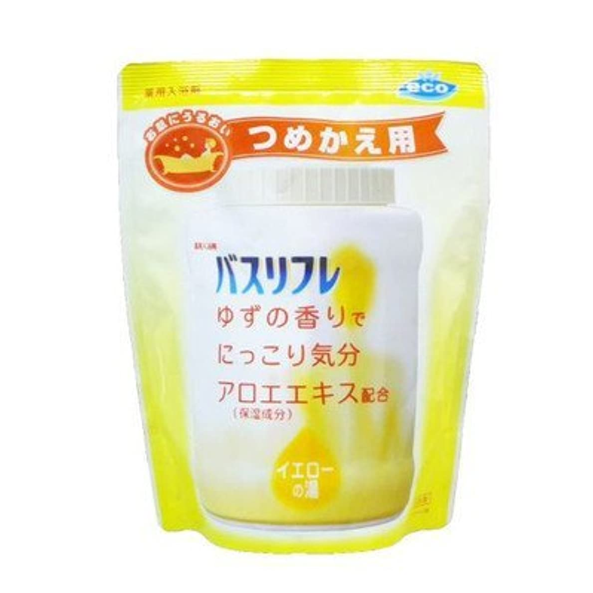 ヘルパー借りる無人薬用入浴剤 バスリフレ イエローの湯 つめかえ用 540g ゆずの香り (ライオンケミカル) Japan