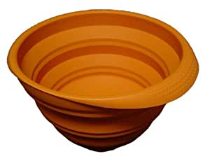 シリコン折りたたみボウル 橙
