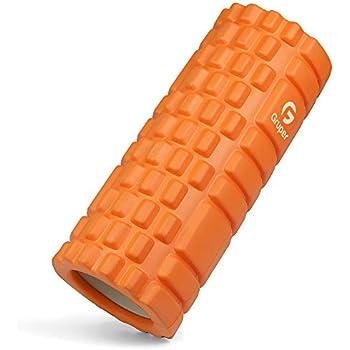 フォームローラー 筋膜リリース KOOLSEN グリッドフォームローラー ヨガポール トレーニング スポーツ フィットネス ストレッチ器具 (オレンジ)