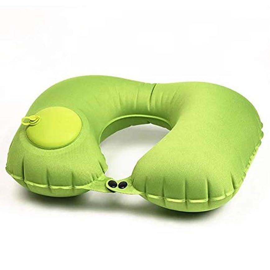 専門見せます飲み込むCandora。 超軽量ポータブル空気注入式U型枕 アウトドア キャンプ 旅行 ソフト枕