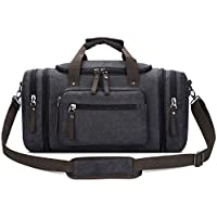 Toupons 20.8'' Large Canvas Travel Tote Luggage Weekender Duffle Bag