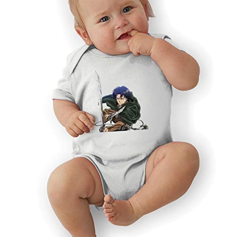 進撃の巨人 リヴァイ?アッカーマン Levi/Rivaille ベビー ロンパース ベビー服 子ども 半袖ボディースーツ 肌着 夏 かわいい 出産祝い プレゼント