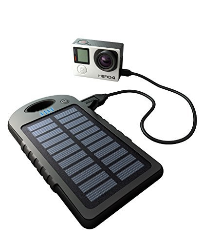 GoPole GPP-26 Dualcharge - GoPro/Mobile Phone USB Power Bank + Solar Charger (Black) [並行輸入品]