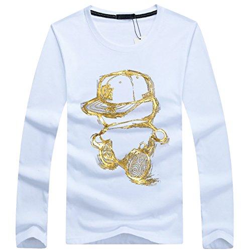 [해외]CHROME CRANE (크롬 크레인) 남성 긴팔 캐릭터 디자인 프린트 T 셔츠 캐릭터 롱 T 셔츠 LPT007/CHROME CRANE (Chrome Crane) Men`s Long Sleeve Character Design Print T Shirts Character T-shirt LPT007