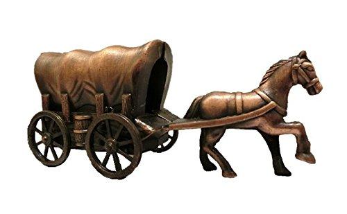秋月貿易 デザイン小物 幌馬車 W10cm x D3.5cm x H4.5cm アンティークシャープナー 9768