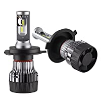 MINI LED ヘッドライトバルブ車検対応Hi/Lo切り替え 10000LM(5000x2)6500K 60W(30x2) DC9-32V 静音ファン内蔵 CREE LEDチップ 360°発光高輝度フォグランプ(ホウイト 2個セット) (RMini-H4/9003/HB2)