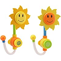 Sunworld シャワーヘッド 子供のおもちゃ ヒマワリ ベビー おもちゃ 知育玩具 風呂 子供 シャワー