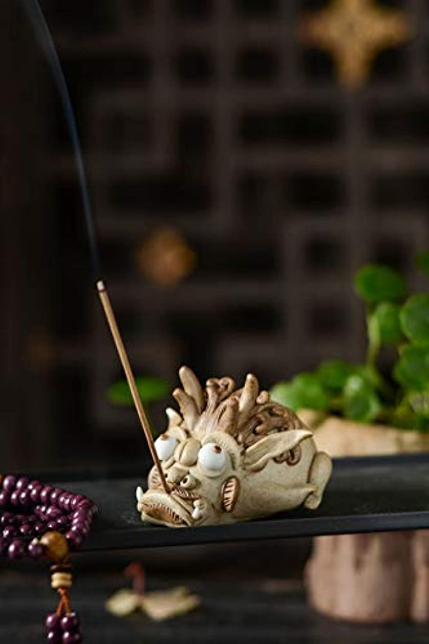 ポルティコ単に通り抜けるPHILOGOD 陶器香炉 クリエイティブ貔貅スタイリング 手作り 線香立て お香 ホルダー (style2)