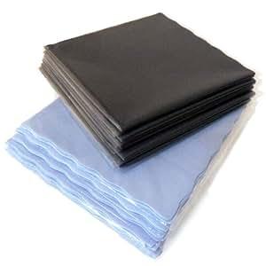 高性能 マイクロファイバークロス 10枚組 ブルー×グレー(iPad iPhone 液晶画面 メガネ拭き 毛穴洗顔等に)
