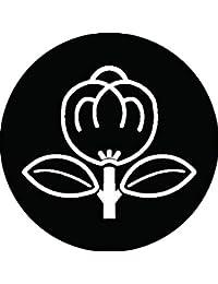 家紋シール 陰一つ茶の実紋 布タイプ 直径40mm 6枚セット NS4-0140