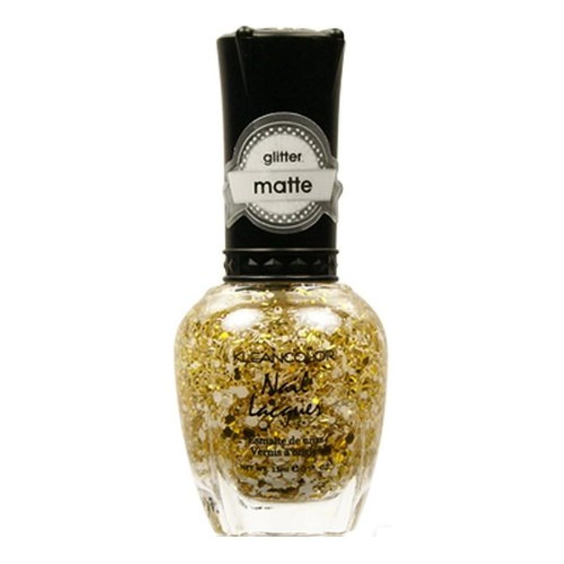語現実的緩めるKLEANCOLOR Glitter Matte Nail Lacquer - Everyday is My Birthday (並行輸入品)