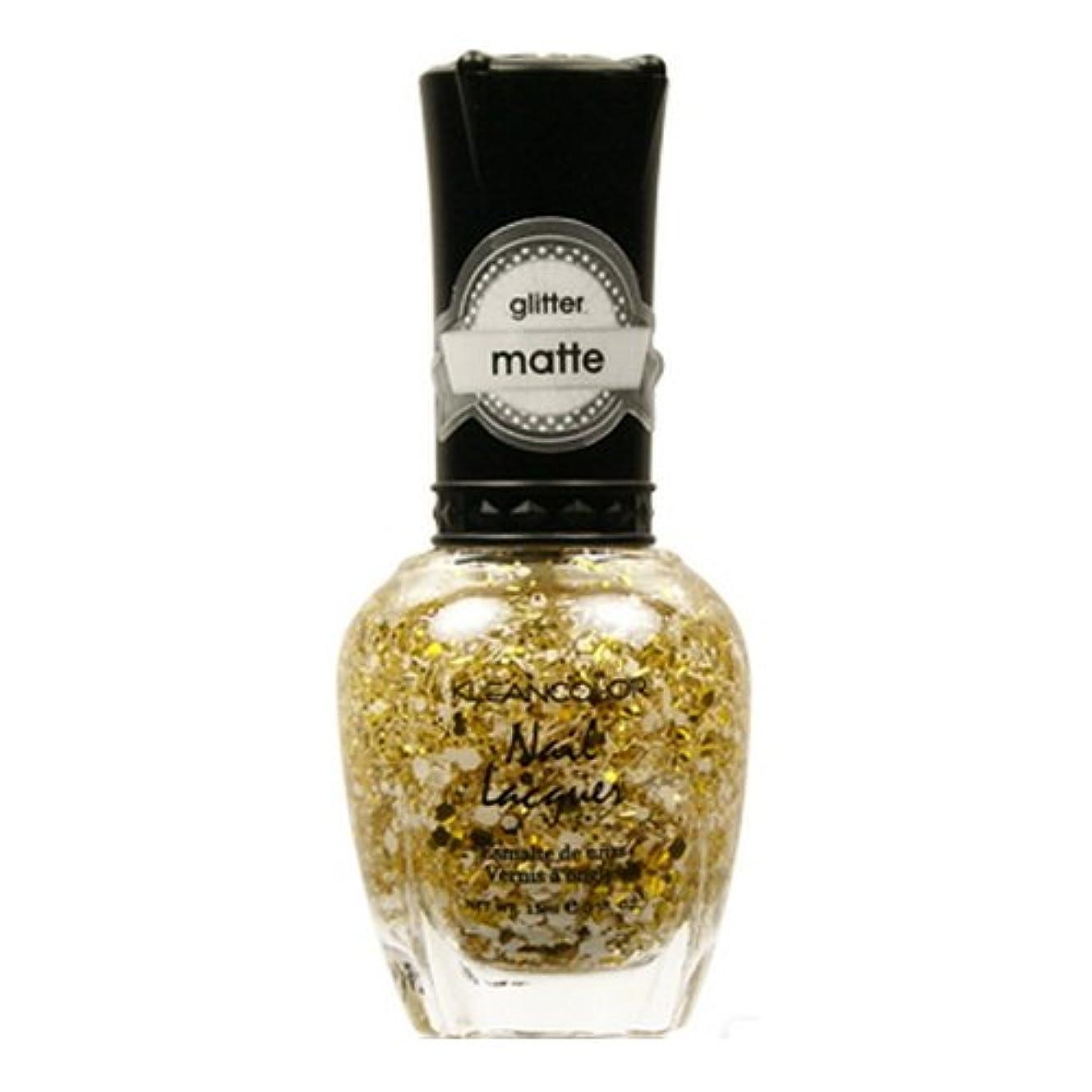 同情的いっぱい処方(3 Pack) KLEANCOLOR Glitter Matte Nail Lacquer - Everyday is My Birthday (並行輸入品)