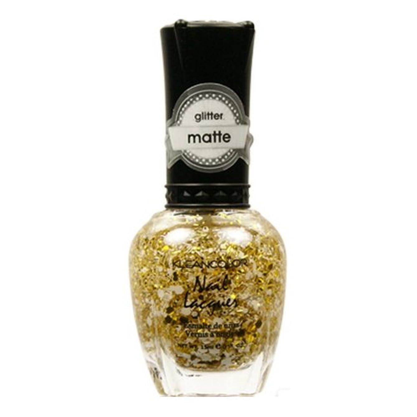 トリム光沢のある抜粋(6 Pack) KLEANCOLOR Glitter Matte Nail Lacquer - Everyday is My Birthday (並行輸入品)