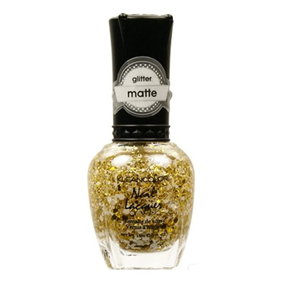抑圧するシュリンク慢KLEANCOLOR Glitter Matte Nail Lacquer - Everyday is My Birthday (並行輸入品)