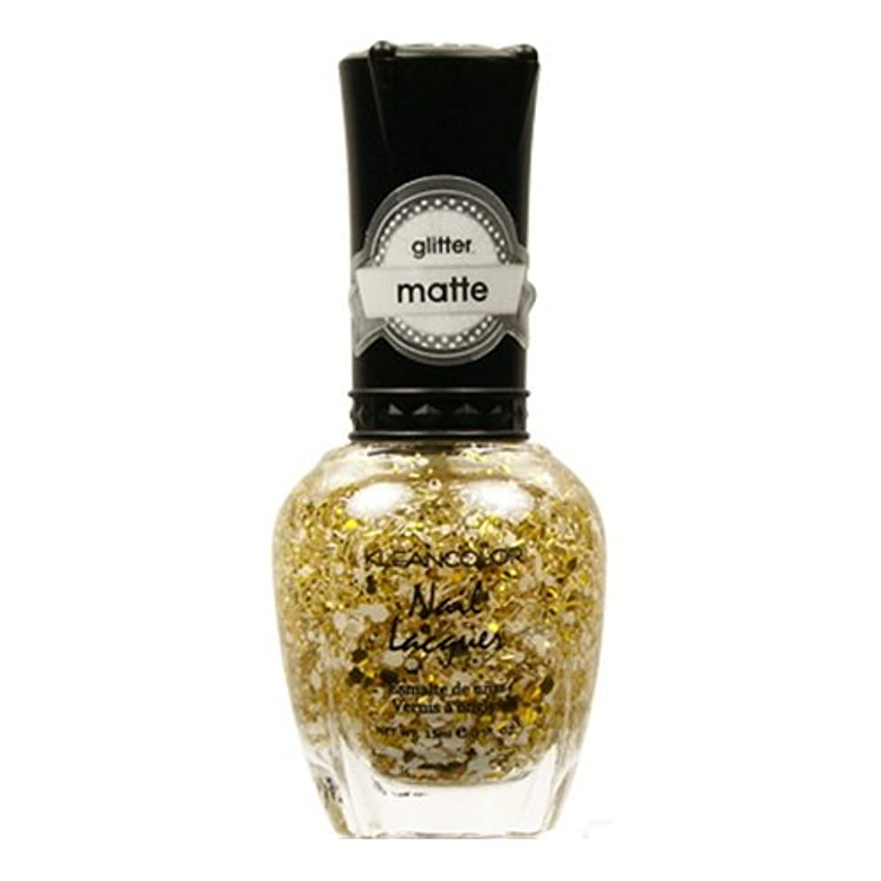 動詞シティ支配的KLEANCOLOR Glitter Matte Nail Lacquer - Everyday is My Birthday (並行輸入品)