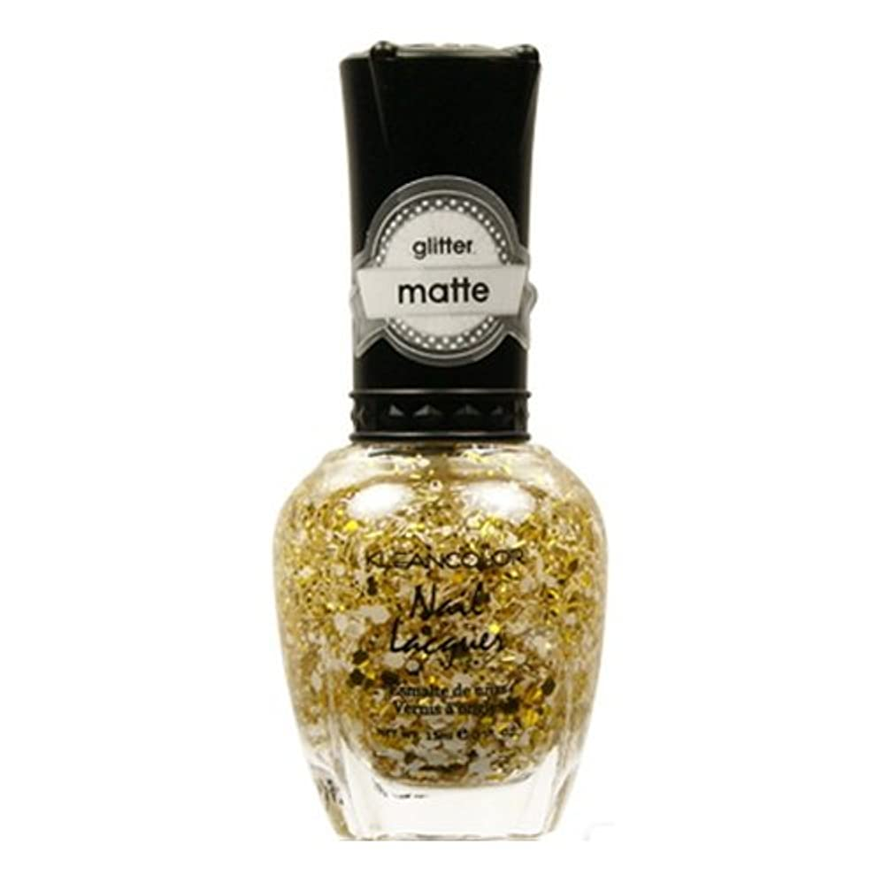 連合硬い不変KLEANCOLOR Glitter Matte Nail Lacquer - Everyday is My Birthday (並行輸入品)