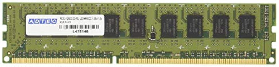 祈るトンネルパッドアドテック DDR3-1600 UDIMM ECC 4GB 省電力