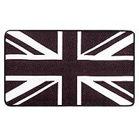 GBX 家庭用モダンミニマリストアートカーペット、カーペット英国スタイルの黒と白の家庭用キッチン浴室ポーチ玄関ドアマットドアマットフロアマット,40Cm×60Cm