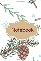 Notebook: Leaves, branches and pinecones autumn winter lined paperback jotter