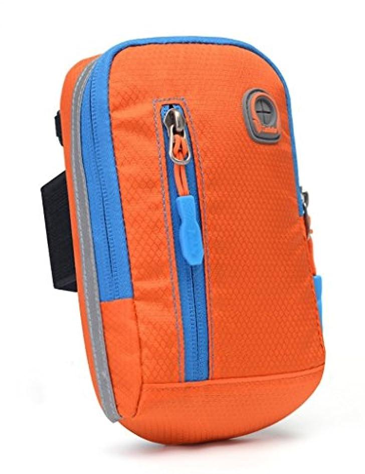 呼ぶ分離責TH 実行アームバッグ移動アームバッグユニバーサル多機能男性対角線の胸のバッグ電話バッグショルダーバッグ フィットネスベルト ( 色 : オレンジ )