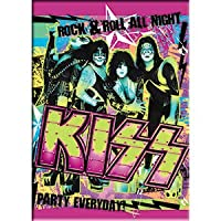 """KISS - ROCK & ROLL ALL NIGHT, PARTY EVERYDAY, Original Artwork MAGNET, 2.5"""" X 3.5"""""""