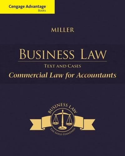 Download Commercial Law for Accountants: Text and Cases (Business Law) 128577017X