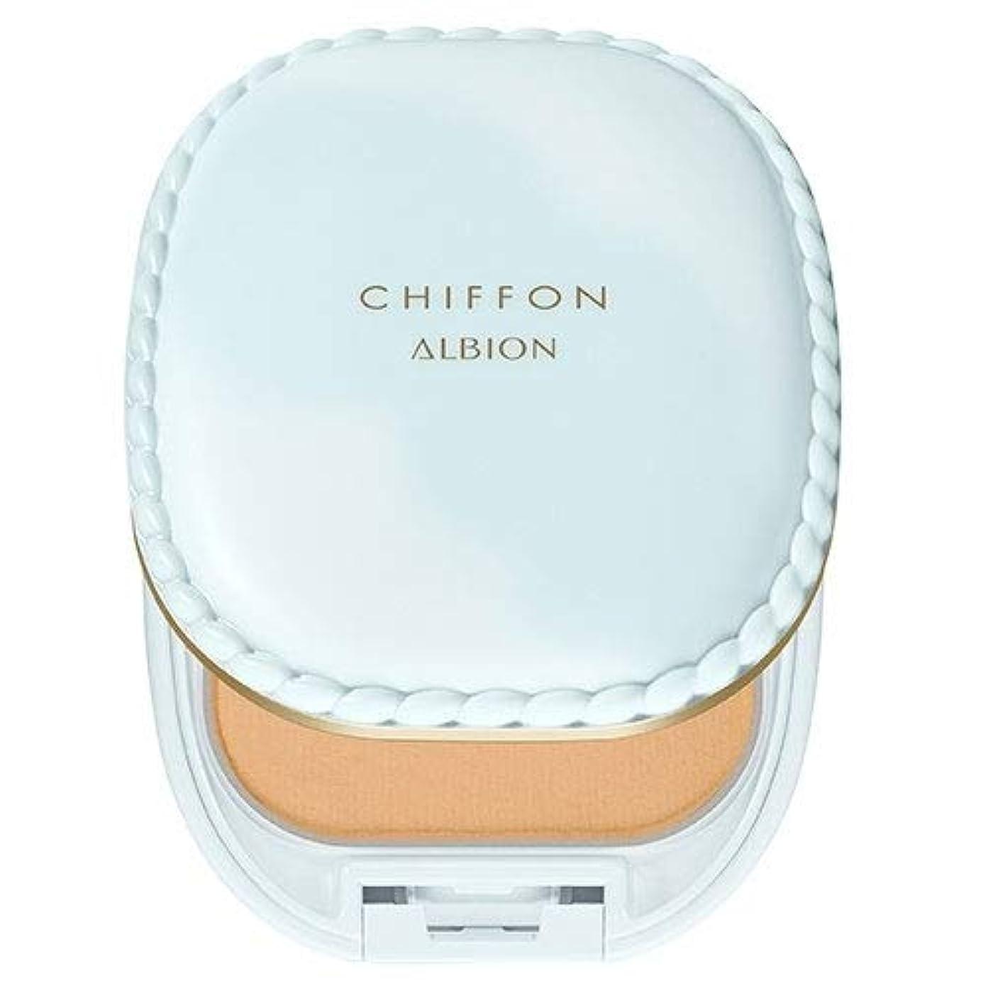 パーツしなやかな曖昧なアルビオン スノー ホワイト シフォン (パフ付ケースのみ) -ALBION-