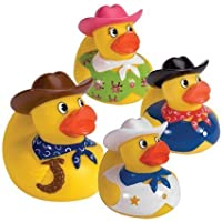 Cowboy Rubber Duck (only one included) [並行輸入品]