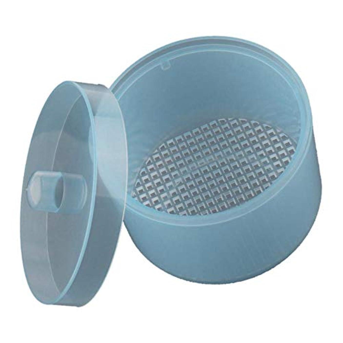 チャーム証言する排泄するSM SunniMix ネイルアート ネイルドリルビット ネイル研磨ヘッド クリーニングボックス 自己排水 全4カラー - 青