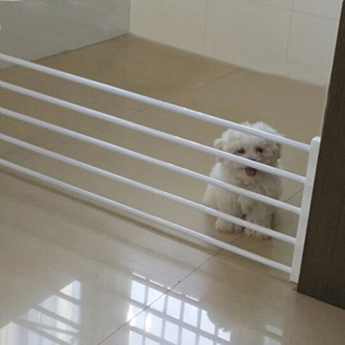[Jiyaru]ペットゲート ペットフェンス 犬用 簡易ドッグゲート 多機能 事故防止 突っ張りタイプ 設置幅75-120cm ホワイト
