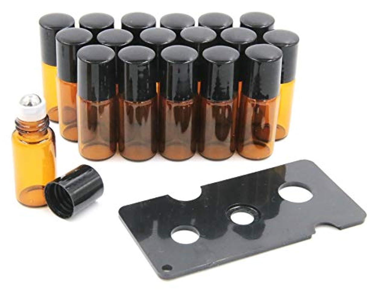 祖母過剰見物人XPdesign アロマ ロールオン遮光瓶 アロマオイル 遮光瓶 保存 容器 小分け 詰め替え 香水 ボトル (3ml 18本セット)