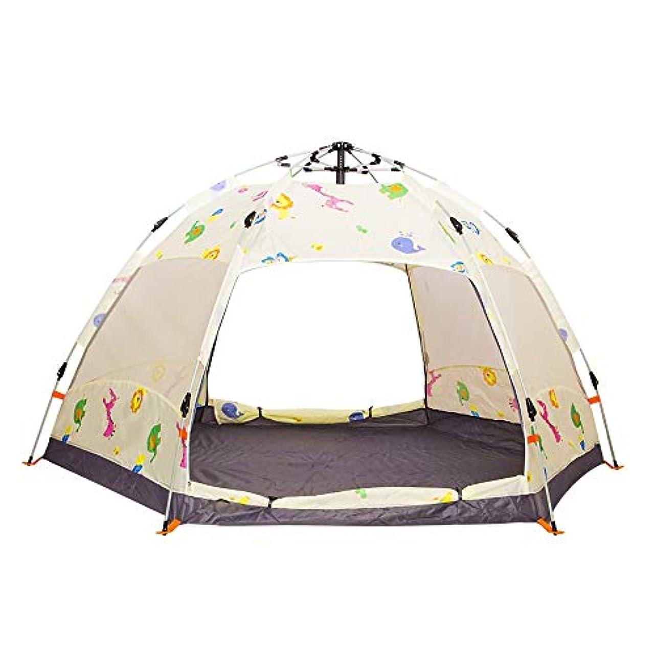 権威超高層ビル肥料Ruzzy 自動ポップアップキャンプテントポータブル3?5人家族のテント防水ダブルドアベントネットウィンドウ - 理想的なシェルターキャンプハイキング野外活動防水と抗UV折りたたみ防水通気性屋外テント 購入へようこそ (Color : White)