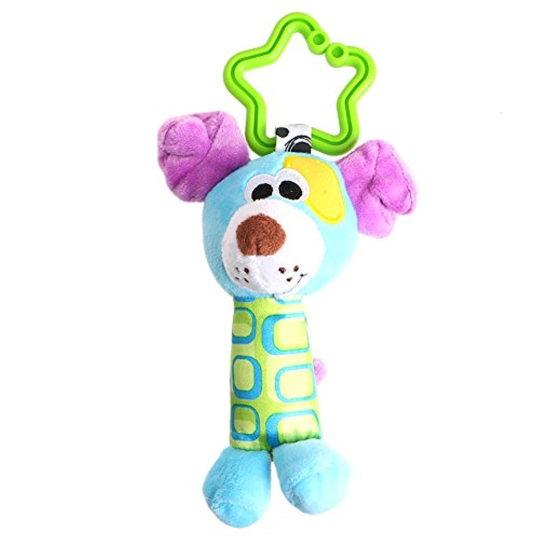 ea-stone幼児赤ちゃん開発Plush人形犬動物Hangingベル風チャイムRattleおもちゃキッズ。。。